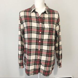 Uniqlo plaid long sleeve button down large